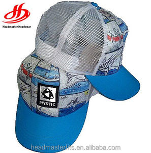 5288b92a485 Custom full print foam trucker mesh caps baseball hat