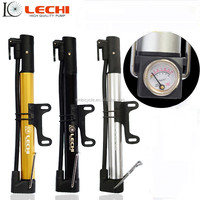 Portable bicycle pump,mini mountainbike pump,alloy pump with pressure gauge