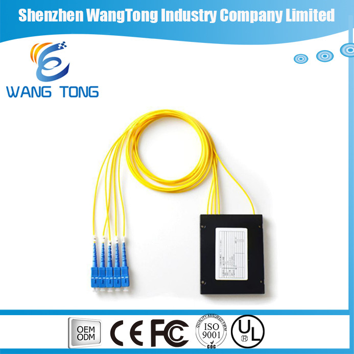1x4 PLC splitter fiber optic FBT coupler splitter gpon splitter OEM factory price