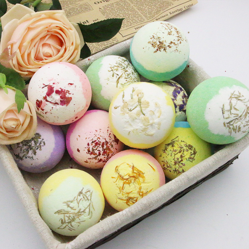 Luxury spa gift Private Label bath bombs gift set