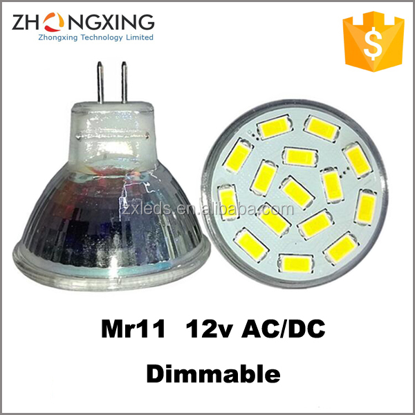 MR11 LED 2w LAMPADINA DICROICA 35mm BIANCO NEUTRO 2w 12v AC DC