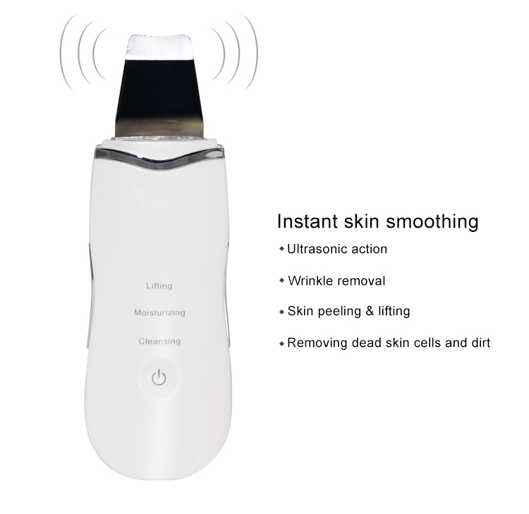 Easy use wrinkle removal skin care device face massage ultrasound skin scrubber