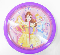 10 inch princess plastic wall clock for child gift