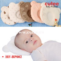 Cute Soft Cotton Baby Head Memory Foam Pillow With Hole