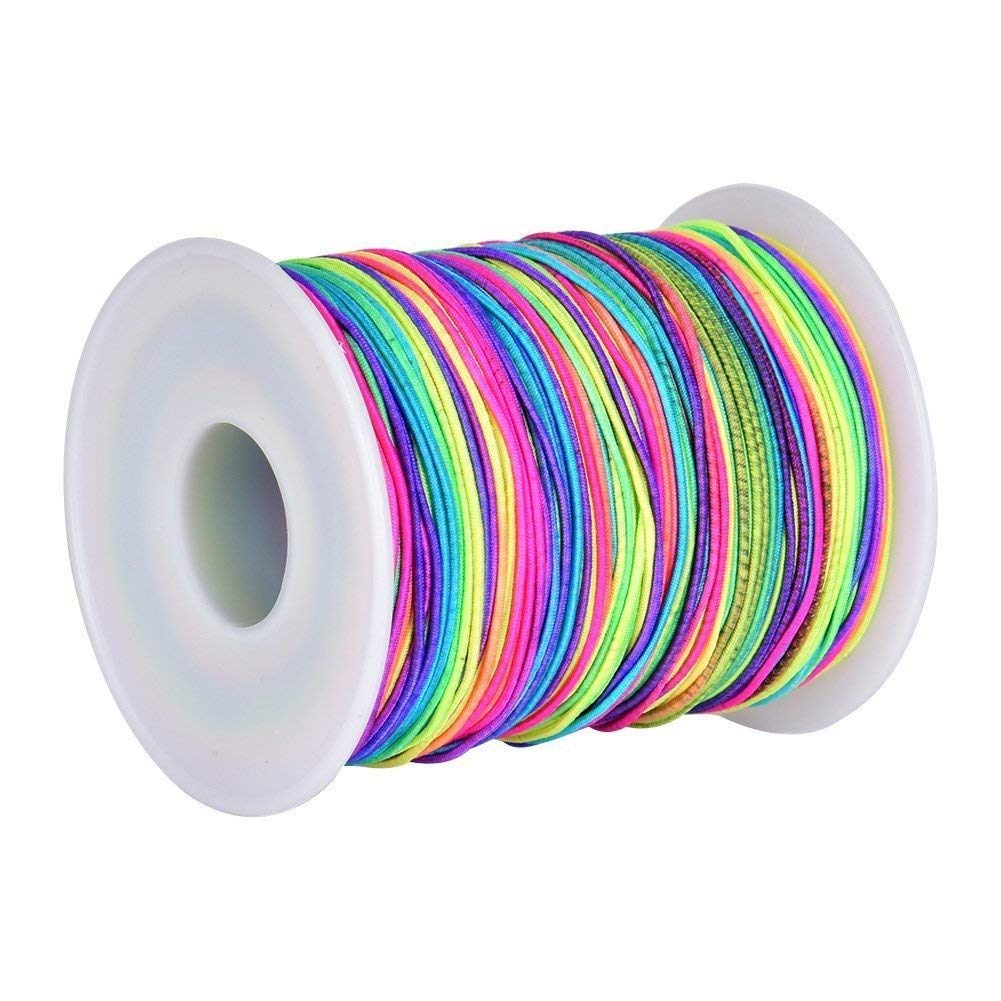 1mm Rainbow Elastic Cord Beading Thread Stretch String for Bracelet Making 109 Yard