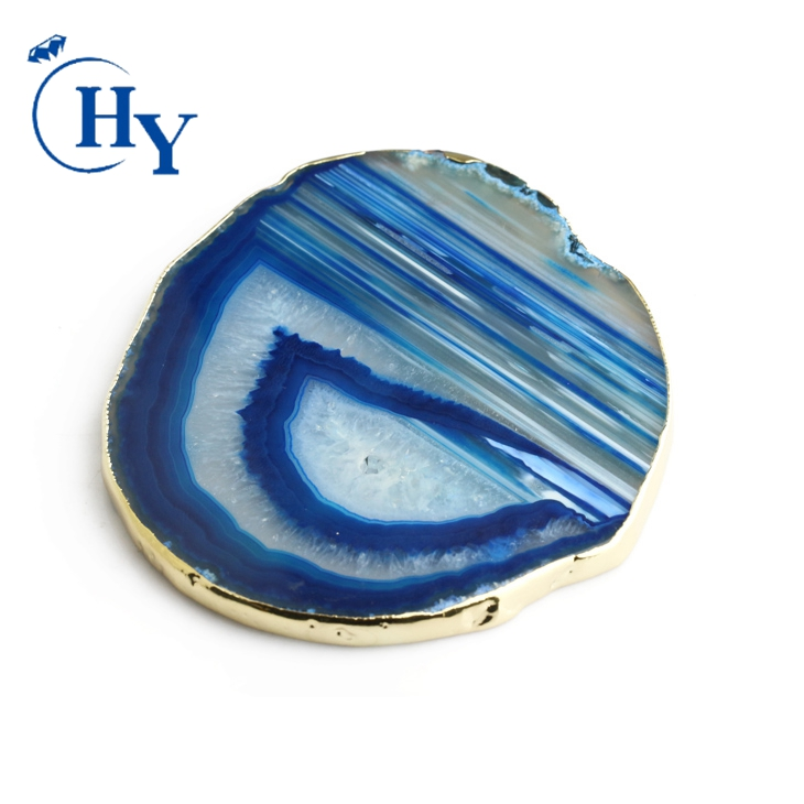 Wholesale agate coaster slices natural stones agate large