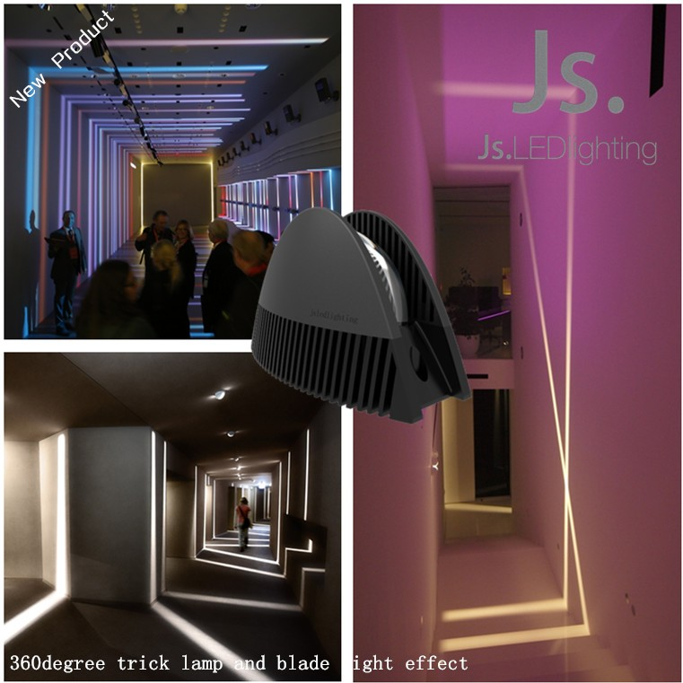 Celling Mounted Commercial Decorative Led Trick Light 360 Degree Strip Lighting For Windows Hallway Project