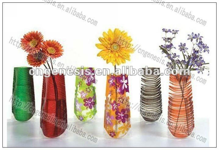 186 & Gift Disposable Plastic Folding Cemetery Flower Vase In Different Shape Design - Buy Plastic Bag Flower VaseDisposable Flower VasePlastic Cemetery ...
