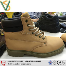 Best qulity steel toe cap nubuck leather safety work boots