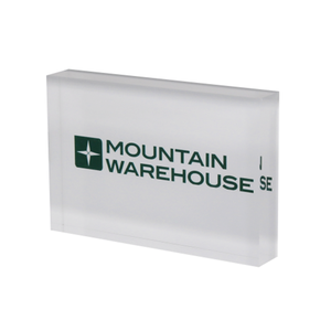 branded acrylic logo block silk screen printing plexiglass name plate