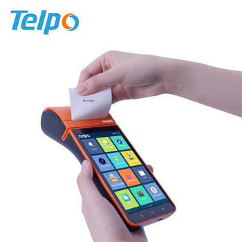 Android Handheld POS Machine, POS Terminal with Printer for E-wallet Application, top up, Bus Ticket TPS900b