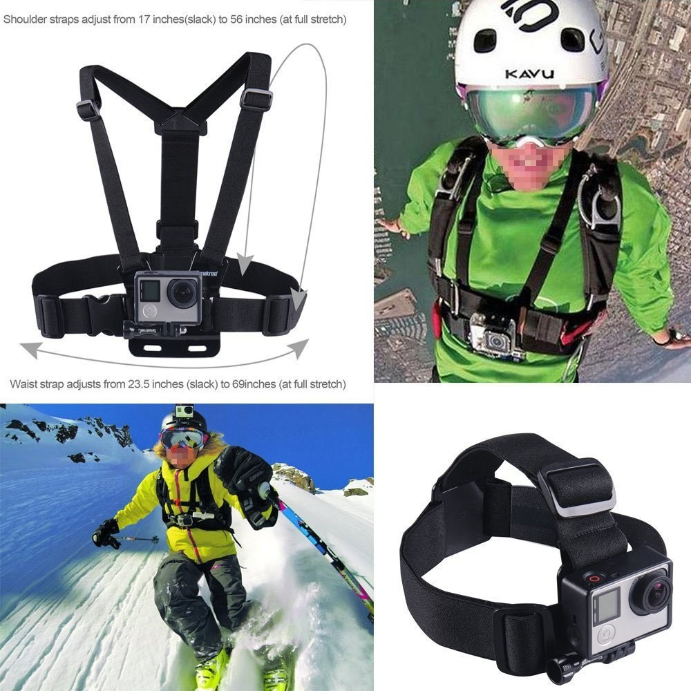 Shenzhen Factory Price Go Pro Mount, Gopros Mouth Head Chest Wrist Shoulder Tripod Mount Adapter 2017
