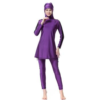 Wholesale Cheap High Quality Multiple Colors Swimming Modest Muslim Islamic Swimwear Women Full Body Coverage Islam Swimsuit