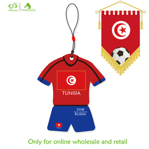 Soccer 2018 TUNISIA New Fans Funny Air Freshener For Home Lavender Vanilla Refresher