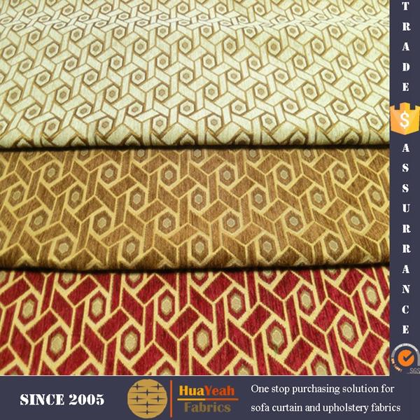 Geometric Pattern Jacquard Chenille Upholstery Sofa Fabric Buy