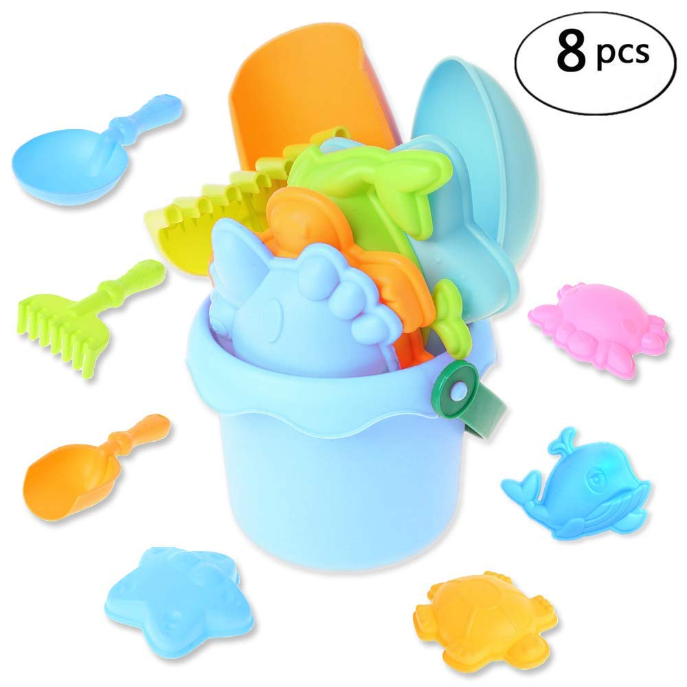 10fc5d3aee Get Quotations · DUUTY Beach Sand Toys Bucket Sandbox Bath Pool Toy Soft  Plastic Outdoor Play Set for Kids