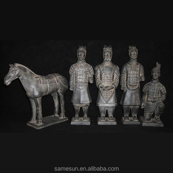 Meilun Art Crafts Promotion Famous Terracotta Warriors And Horses Statue Box Set Kilning Collectible Wholesale Manufacturer