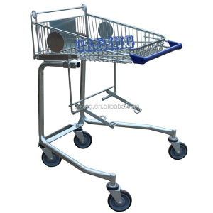 Shopping trolley for disabled or old people shopping cart