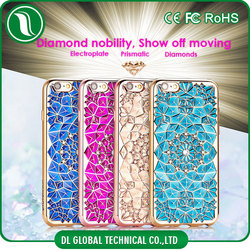 Cube phone accessories 3D electroplate case for iphone 6 Phone case (Diamond Ring phone case)