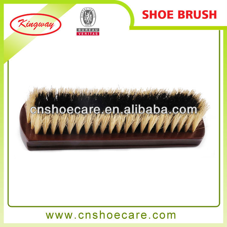 Natural bristle soft shoe brush with good reputation