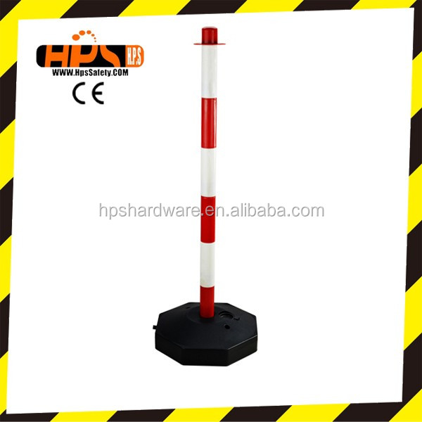 Used Road Safety 80cm Portable PP/PE Traffic Safety Post Spring Road Bollard