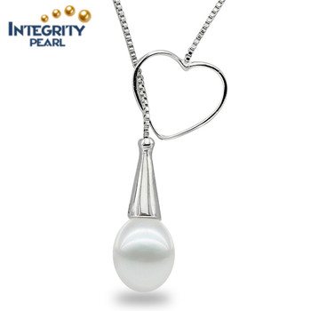 925 sterling silver new design natural freshwater pearl pendant 925 sterling silver new design natural freshwater pearl pendant necklace mozeypictures Image collections