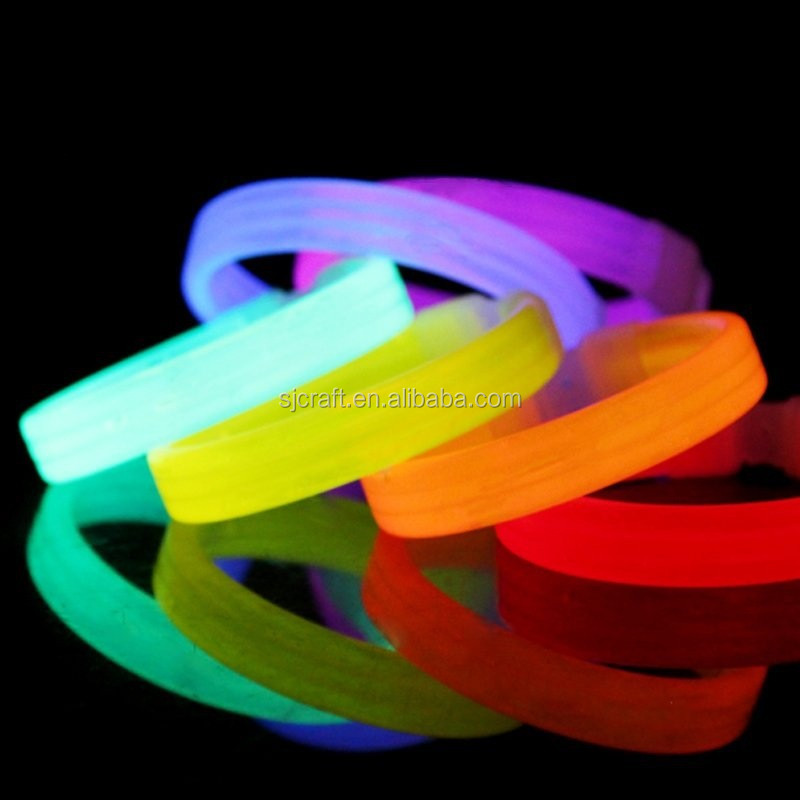 Light Up Glow Sticks Bright Neon Glo Lite Stix 8'' Bracelet SJ-GB02