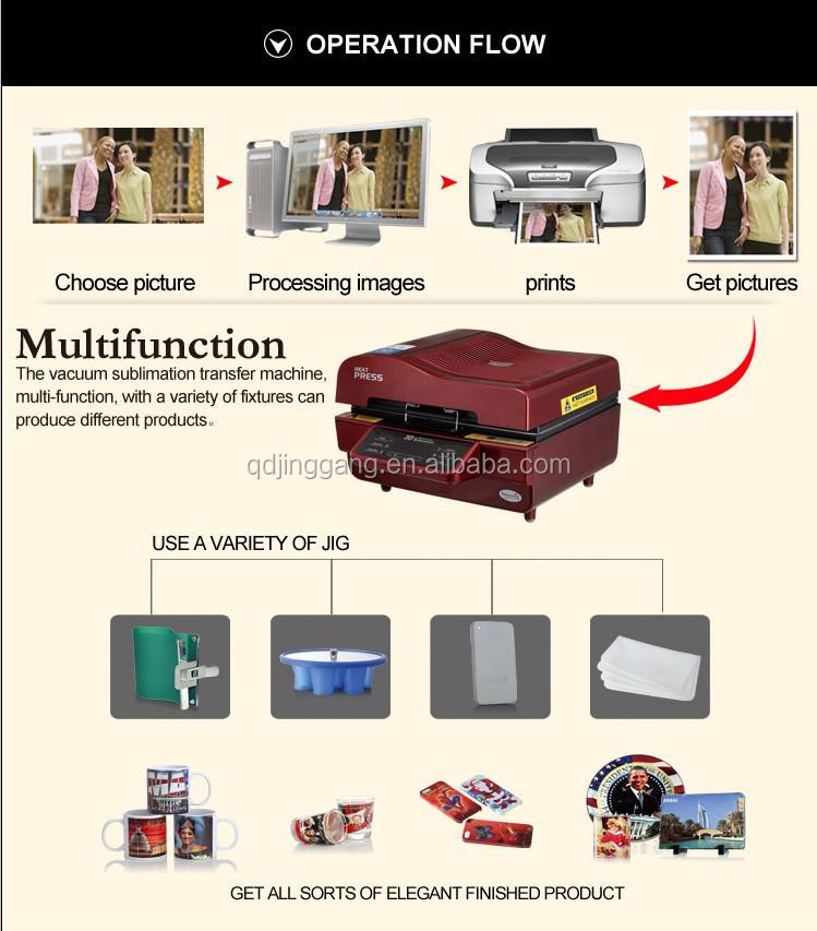 Sublimation Vacuum Heat Transfer Machine