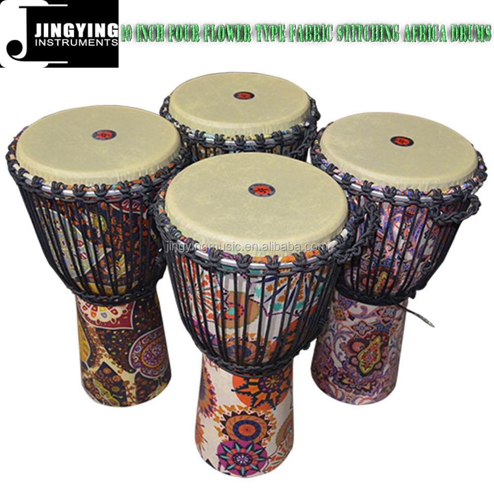 WMD10 10 Inch Four Flower Type Fabric Stitching Africa Drums