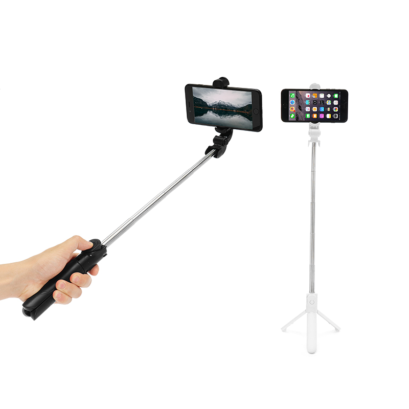 Extendable Selfie Stick Handheld Tripod Monopod Mini BT Wireless Remote Shutter Live Streaming Holder Stand for Xiaomi