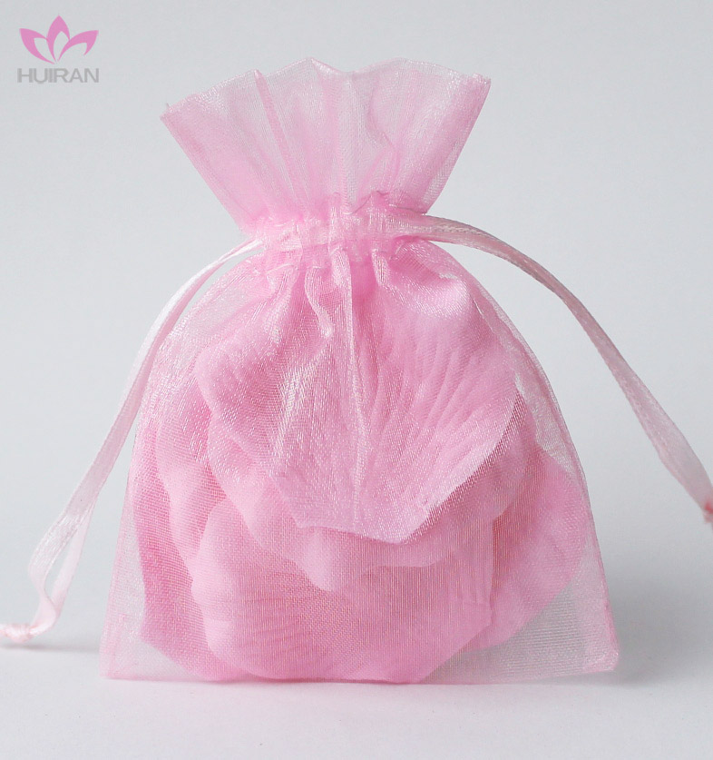 7*9cm Promotion Wholesale Pink Organza Bags