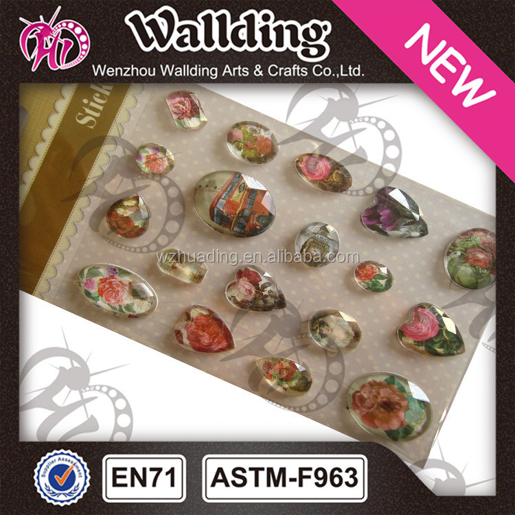 different shapes of rhinestone sticker