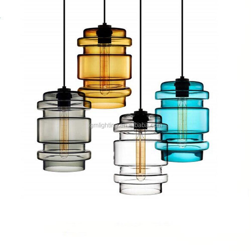 Unique Colorful Gl Pendant Lamp Decoration Hanging Light