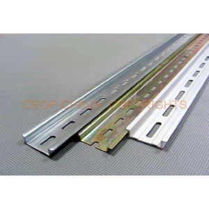 stainless steel/aluminum Din Rail for circuit breaker, electric mountable rail, distribution terminal box mounting