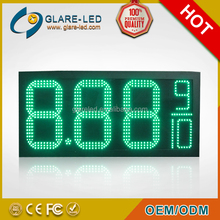 Glare-led petrol station equipment 4 digit 7 segment led display gas station price led sign board