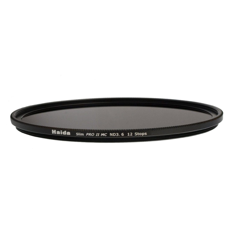 Haida PRO II Multi-Coated ND 3.6 4000X 12 Stops Optical Glass Neutral Density Filter, 72mm