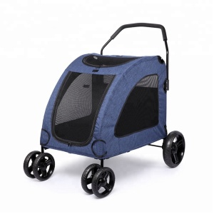 Four Wheels Outdoor Travel Carrier Foldable Portable Pet Dog Stroller