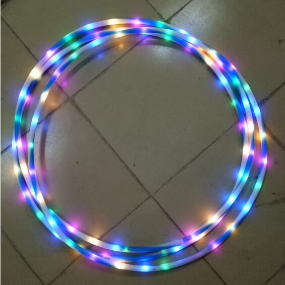 super bright led luce lampeggiante hula hoop