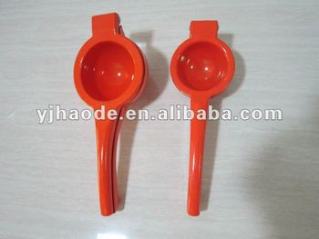 aluminum lemon squeezer/press with coating