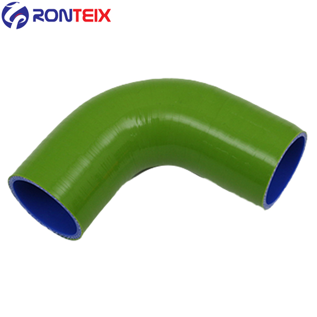 32MM-38MM Ronteix Universal 90 Degree ID 1.25 Inch to 1.5 Inch 4-Ply Reducer Silicone Hose
