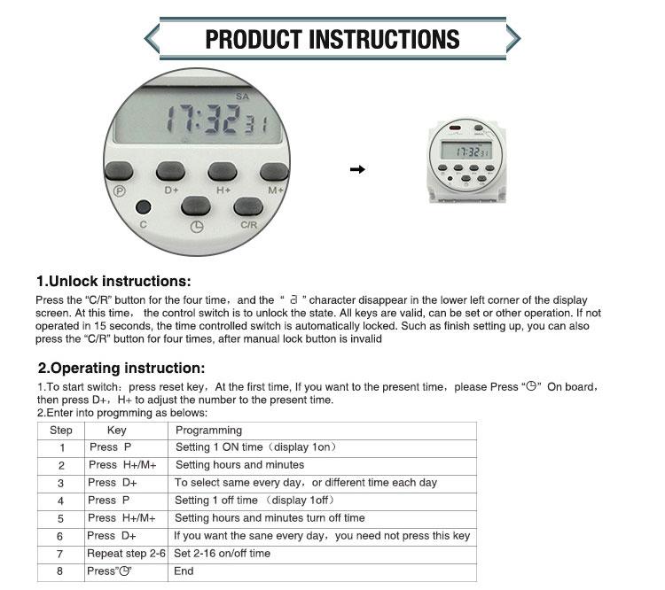 12 В в мини вольт DC din-рейку аналоговый вкл/выкл 24 часа программируемый цифровой уличный световой таймер времени, AC таймер