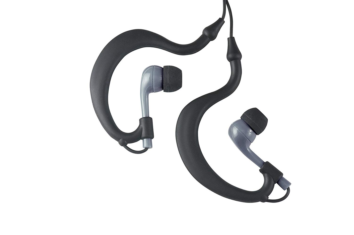 UWATER Triple-Axis Waterproof Action Earphones (Black and Grey)