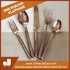 Rose Gold Cutlery Pvd Coating Gold Plated Flatware Set for gift