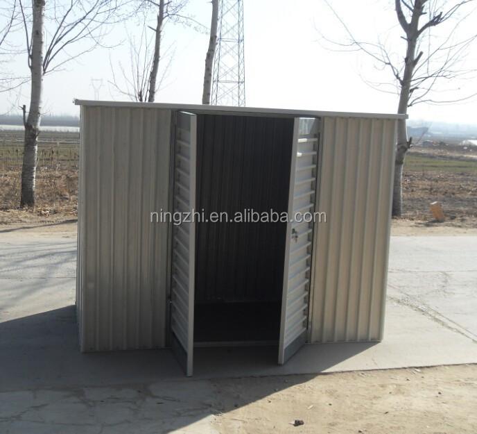Bâtiment d'entreposage de garage d'abri en métal de 18 x 21 installé