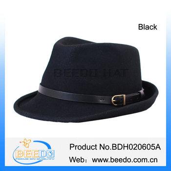 99c311076029c2 Mens Black Waterproof Fedora Trilby Felt Hats - Buy Waterproof ...