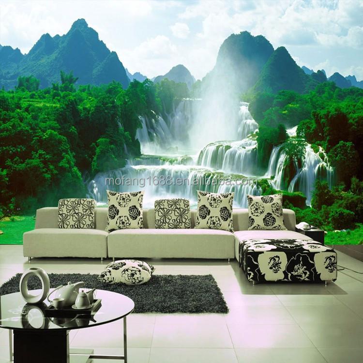 Relajarse aqu la naturaleza paisaje 3d papel para pared - Paredes en 3d decoracion ...
