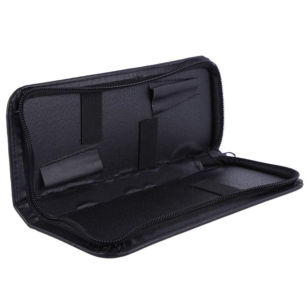 Salon Tools Holster Bag,Professional PU Leather Zipper Pouch Box Hairdressing Scissors Tool Bag