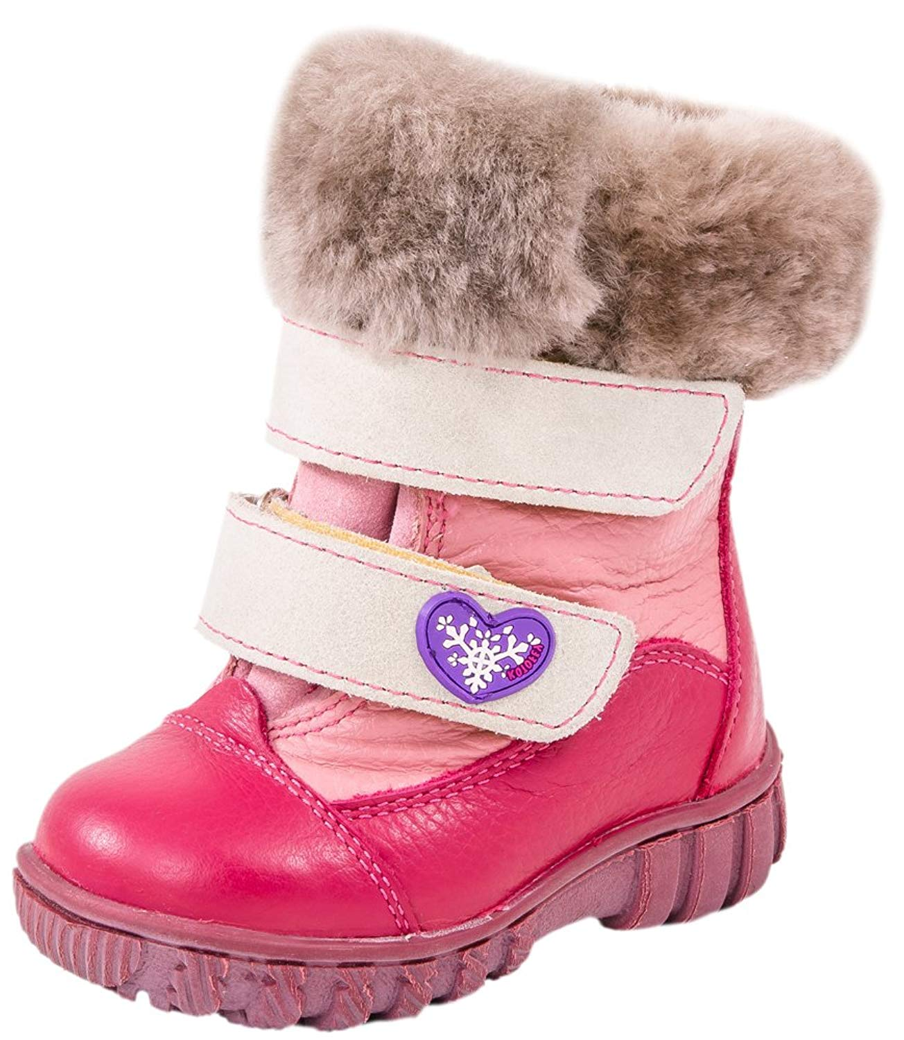 CHILDRENS GIRLS PINK SNUGG WARM WINTER FLAT PULL-ON FUR BOOTS KIDS SHOES 10-2