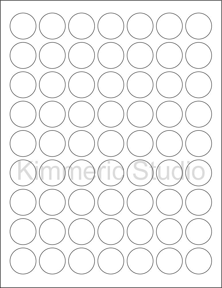 8-1//2x11 Standard Sheets 120 2 Blank Round Circle Pink Stickers for Inkjet /& Laser Printers 6 SHEETS Size