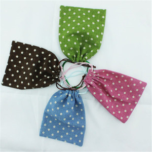 Utility wholesales factory hot sale promotional small polka dot jute bags